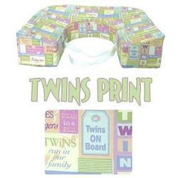 EZ-2-Nurse Twins Pillow, Twins Print