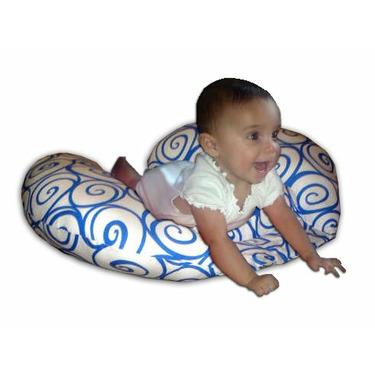 The CozyMe Pillow Retro, Nursing And Infant Development Pillow, Wave Swirl