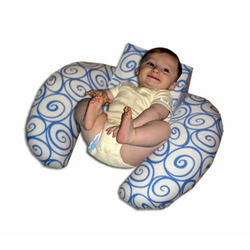 The CozyMe Pillow Retro, Nursing And Infant Development Pillow, Wave Swirl