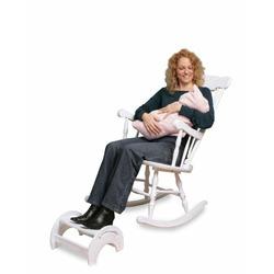 nursing stool adjustable white
