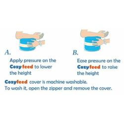 Cozyfeed Adjustable Feeding Cushion- For Breast and Bottle Feeding (Orange with Stripes)