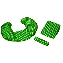 "The CozyMe Pillow ""Green Gingham"""