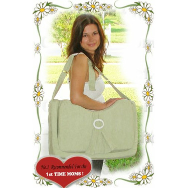 Nursing / Bottle Feeding Pillow By Daval Babies - 1st Time Mom, Sage Green