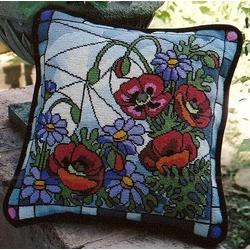 Poppies and Asters - Cushions and Pillows
