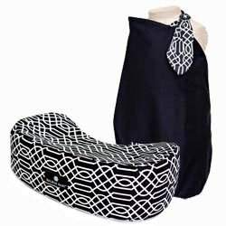 """Modern, Chic n' Simple"" - Matching Nursing Pillow And Nursing Cover Gift Set - Black & White"