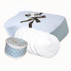 """Pampered Polk a Dot"" - Nursing Pillow Gift Set (Blue)"