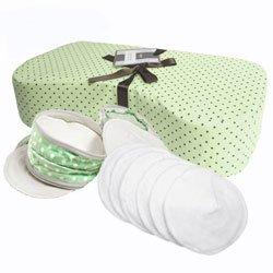 """Pampered Polk a Dot"" - Nursing Pillow Gift Set (Green)"