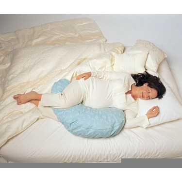 Boppy Cuddle Pillow with Cotton Slipcover, Sage Circles