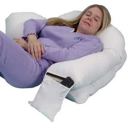 Leachco Snoogle Loop Contoured Fit Body Pillow, Ivory