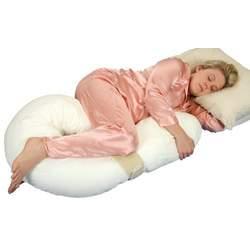 Leachco Preggle Comfort Air-Flow Body Pillow, Ivory/Khaki