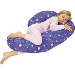 Leachco Lil' Snoogle - Child-Sized Body Pillow - Blue Stars