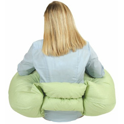 Leachco Two-By-You Adjustable Nursing Pillow, Sage/White dot