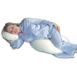 Leachco Snoogle Half-Time Flexible Total Body Pillow, Ivory