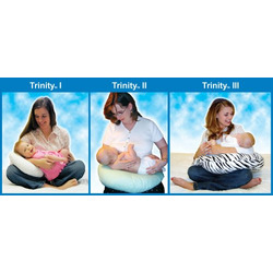 Trinity by NuAngel Maternity & Nursing Pillow Set (Includes Three Sizes) for Pregnancy, Breastfeeding, Baby, and Beyond in Natural 100% Cotton