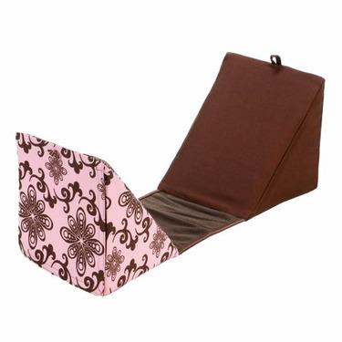 Utterly Yours Brown Swirls/Pink Preg Pillow - Medium