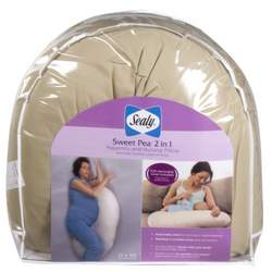 Kolcraft Sealy Sweet Pea 2-in-1 Maternity and Nursing Pillow, Cappuccino