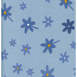 100% Cotton Twill Extra Cover for Theraline Maternity & Nursing Pillow with Easy On - Off Zipper - Little Blue Flowers