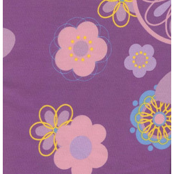 100% Cotton Twill Extra Cover for Theraline Maternity & Nursing Pillow with Easy On - Off Zipper - Retro Flower Purple