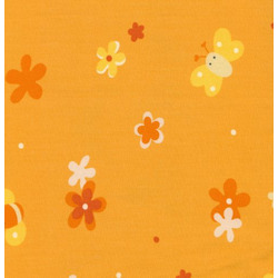 100% Cotton Twill Extra Cover for Theraline Maternity & Nursing Pillow with Easy On - Off Zipper- Flower Field Orange