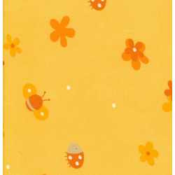 100% Cotton Twill Extra Cover for Theraline Maternity & Nursing Pillow with Easy On - Off Zipper - Flower Field Yellow