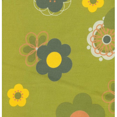 100% Cotton Twill Extra Cover for Theraline Maternity & Nursing Pillow with Easy on - Off Zipper - Retro Flower Green