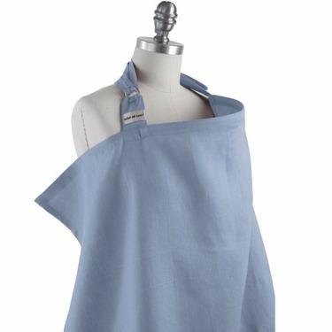 Simple by Bebe Au Lait Organic Nursing Cover, Steel
