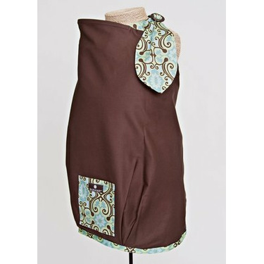 Balboa Baby Nursing Cover - Brown with Floral Trim