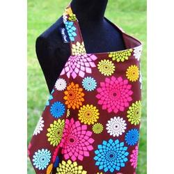 100% Cotton Chic Nursing Cover - Flower Child Reverses to Sateen Chocolate