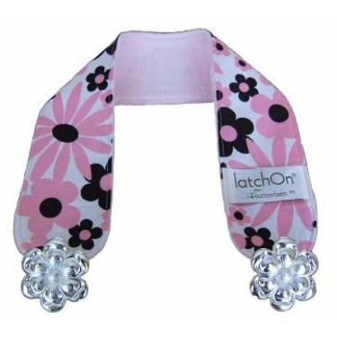 LatchOn Nursing Blanket Strap - turns any blanket into a nursing cover (Minky Wild Pink/Brown)