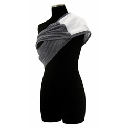 Baby Bond Original Nursing Sash with Sewn-in Burpcloth, Charcoal, Small/Medium