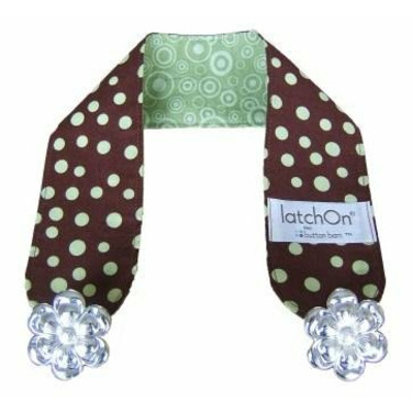 LatchOn Nursing Cover Strap Dot Green and Brown