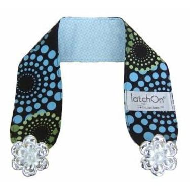 LatchOn Nursing Blanket Strap Wild Blue and Brown