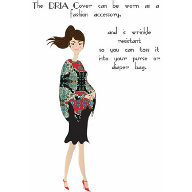 Bristol DRIA Nursing Cover (chocolate brown polka dots on light blue)