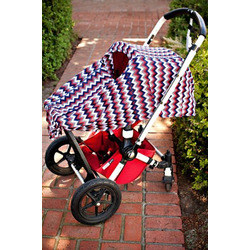 Rio DRIA Nursing Cover (silky with red geometric pattern)