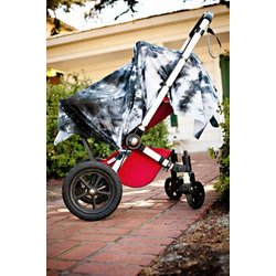 Bali DRIA Nursing Cover and Stroller Cover (black & grey cotton tie dye)