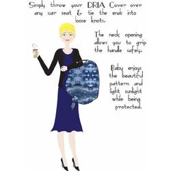 Bali DRIA Nursing Cover and Stroller Cover (black & grey cotton tie dye)