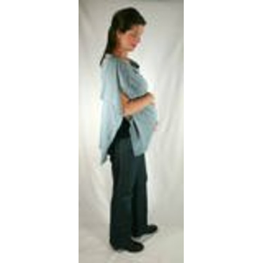 The Butterfly Wrap: Shawl + Nursing Cover + Skirt (Small, Stone Blue)
