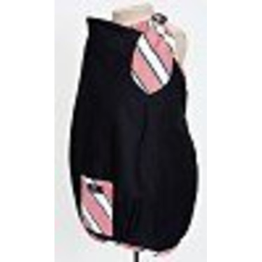 Balboa Baby Nursing Cover - Black with Coral Trim