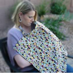 Jelly Bean Nursing Cover with Clutch