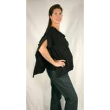 The Butterfly Wrap: Shawl + Nursing Cover + Skirt (Small, Jet Black)