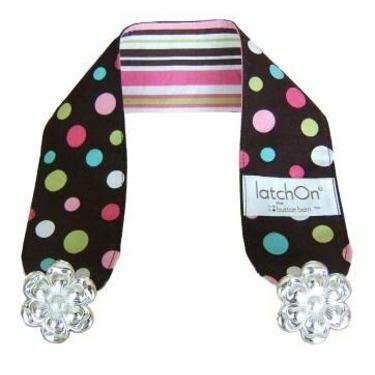 Latchon Nursing Blanket Strap Dots Pink and Brown