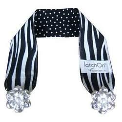 LatchOn Nursing Blanket Strap Wild Zebra