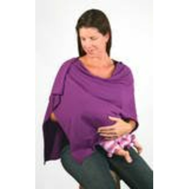 The Butterfly Wrap: Shawl + Nursing Cover + Skirt (Medium, Hot Purple)