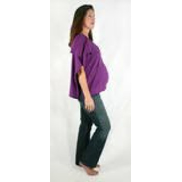 The Butterfly Wrap: Shawl + Nursing Cover + Skirt (Small, Hot Purple)