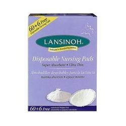 Lansinoh 20265 Disposable Nursing Pads, 60-pack