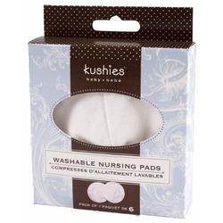 Kushies Washable Nursing Pads, White