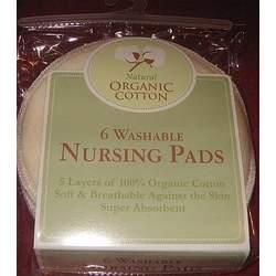 Natural Organic Cotton Washable Nursing Pads-6pk [Baby Product]