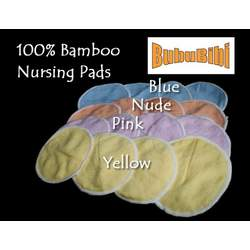 100% Bamboo Nursing or Breast Pads Organic - Nude