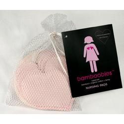 Bamboobies Organic Bamboo Washable Nursing Pads, 4 Pair Multi-pack - Light Pink