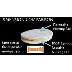 100% Bamboo Nursing or Breast Pads Organic - Yellow
